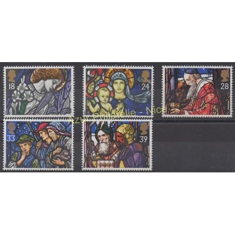 Great Britain - 1992 - Nb 1640/1644 - Christmas