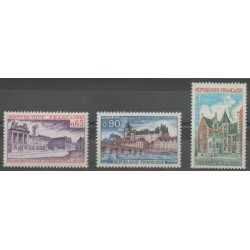 France - Poste - 1973 - Nb 1757/1759 - Monuments