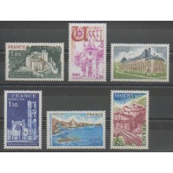 France - Poste - 1976 - No 1871/1873 - 1902/1904 - Monuments