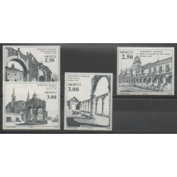 Mexique - 1980 - No 906/909 - Monuments