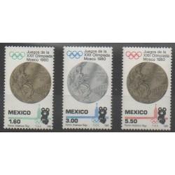 Mexique - 1980 - No 898/900 - Jeux Olympiques d'été