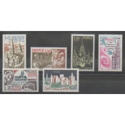France - Poste - 1977 - No 1937/1939 - 1947/1949 - Églises - Monuments