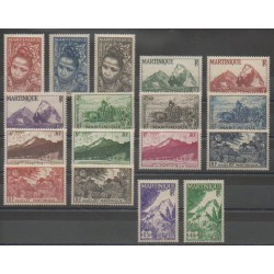 Martinique - 1947 - Nb 226/242
