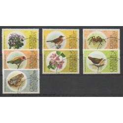 Grenadines - 1976 - No 132/138 - Oiseaux - Reptiles - Oblitéré
