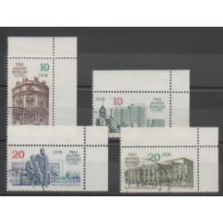 Allemagne orientale (RDA) - 1987 - No 2695/2698 - Monuments - Oblitéré