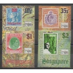 Singapour - 1980 - No 347/350 - Timbres sur timbres