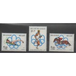 Belgique - 1976 - No 1795/1797 - Jeux Olympiques d'été