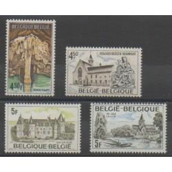 Belgique - 1976 - No 1827/1830 - Monuments - Églises