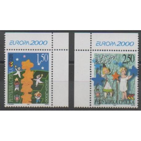 Bosnie-Herzégovine République Serbe - 2000 - No 152/153 - Europa