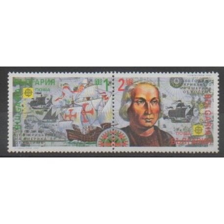 Bulgarie - 1992 - No 3445/3446 - Christophe Colomb - Europa