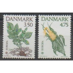 Denmark - 1992 - Nb 1028/1029 - Fruits - Flora - Europa