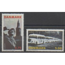 Danemark - 1995 - No 1103/1104 - Seconde Guerre Mondiale - Europa