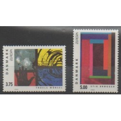 Danemark - 1993 - No 1055/1056 - Art - Europa