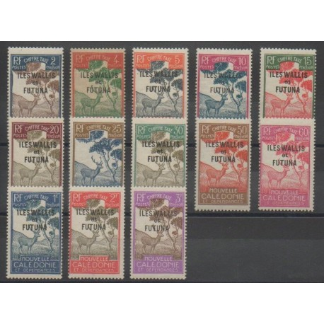 Wallis et Futuna - Timbres-Taxe - 1930 - No T11/T23