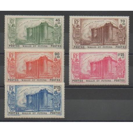 Wallis et Futuna - 1939 - No 72/76 - Révolution Française - Neuf avec charnière