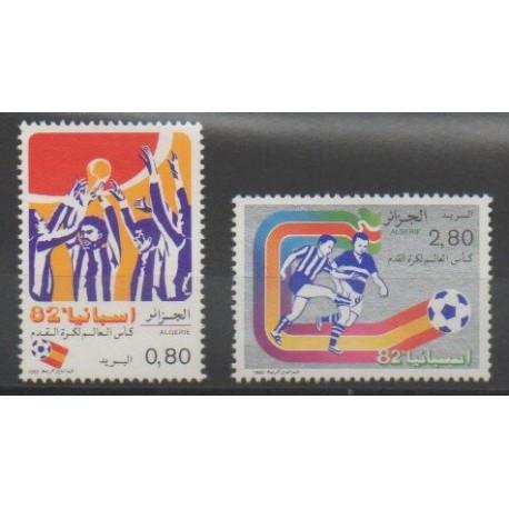 Algérie - 1982 - No 753/754 - Coupe du monde de football