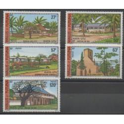 Wallis and Futuna - 1977 - Nb 203/207 - Monuments