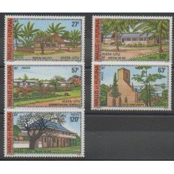 Wallis et Futuna - 1977 - No 203/207 - Monuments