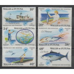 Wallis and Futuna - 1979 - Nb 226/231 - Sea animals