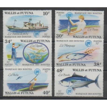 Wallis et Futuna - 1979 - No 226/231 - Animaux marins