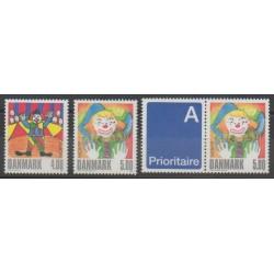 Danemark - 2002 - No 1309/1310 - 1310a - Cirque - Europa
