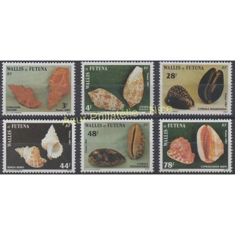 Wallis et Futuna - 1987 - No 360/365 - Coquillages