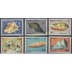 Wallis et Futuna - 1986 - No 337/342 - Coquillages