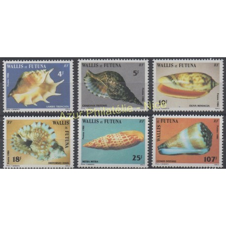 Wallis and Futuna - 1986 - Nb 337/342 - Shells