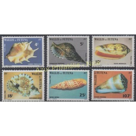Wallis et Futuna - 1986 - No 337/342 - Coquillages