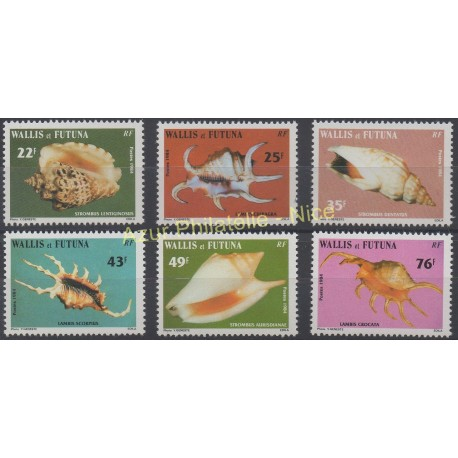 Wallis et Futuna - 1984 - No 312/317 - Coquillages