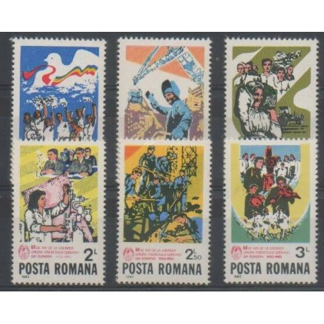Roumanie - 1982 - No 3382/3387