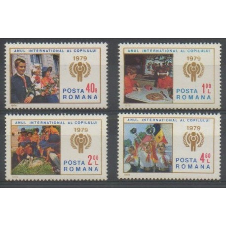 Roumanie - 1979 - No 3164/6167 - Enfance