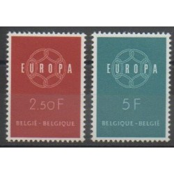 Belgique - 1959 - No 1111/1112 - Europa