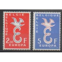 Belgique - 1958 - No 1064/1065 - Europa