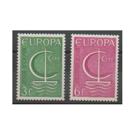 Belgique - 1966 - No 1389/1390 - Europa