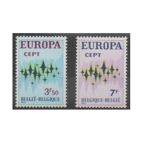 Belgique - 1972 - No 1623/1624 - Europa
