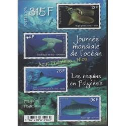 Polynésie - Blocs et feuillets - 2014 - No BF41 - Vie marine