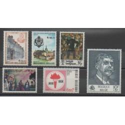 Belgium - 1977 - Nb 1837/1842