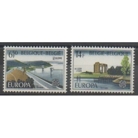 Belgique - 1977 - No 1848/1849 - Monuments - Europa