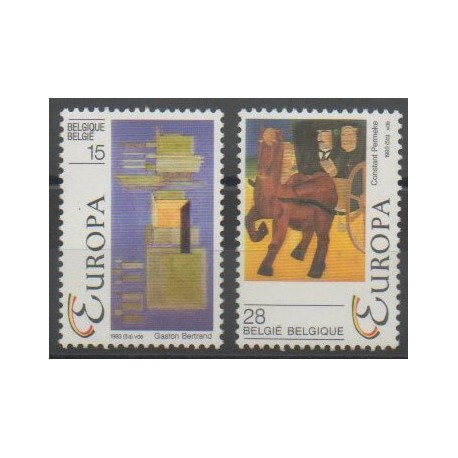 Belgique - 1993 - No 2501/2502 - Cirque - Europa