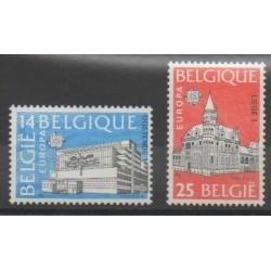 Belgium - 1990 - Nb 2367/2368 - Monuments - Europa