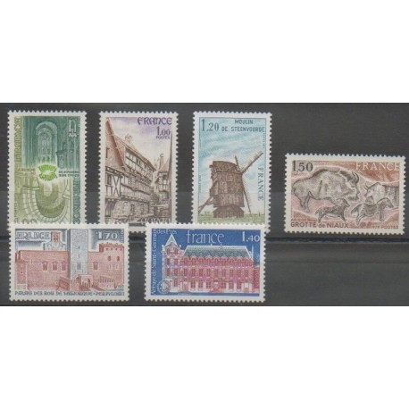 France - Poste - 1979 - No 2040/2045 - Sites
