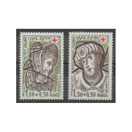 France - Poste - 1979 - No 2070/2071 - Santé ou Croix-Rouge