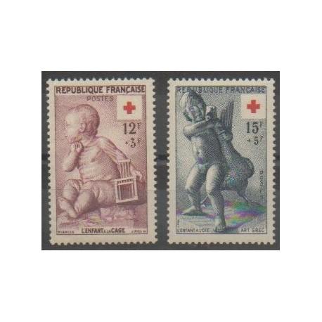 France - Poste - 1955 - No 1048/1049 - Santé ou Croix-Rouge