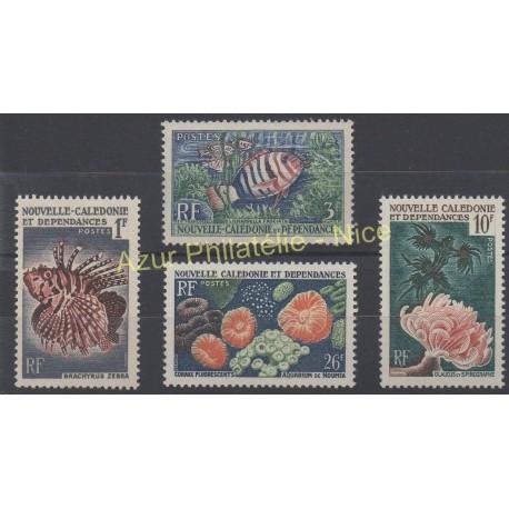 Nouvelle-Calédonie - 1959 - No 291/294 - Vie marine