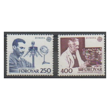 Féroé (Iles) - 1983 - No 78/79 - Sciences et Techniques - Europa