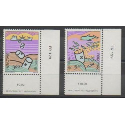 Faroe (Islands) - 1986 - Nb 128/129 - Environment - Europa