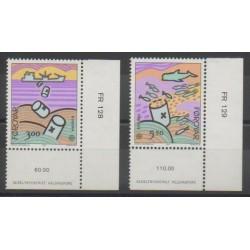 Féroé (Iles) - 1986 - No 128/129 - Environnement - Europa