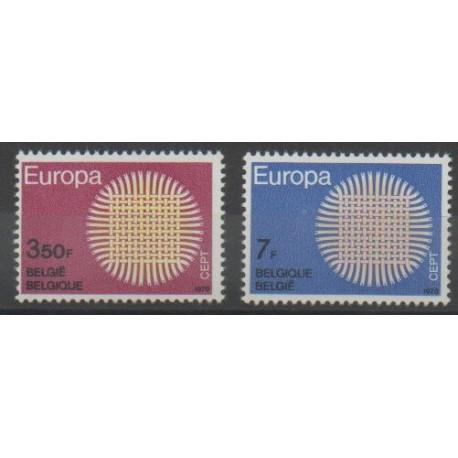 Belgique - 1970 - No 1530/1531 - Europa