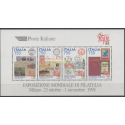Italy - 1997 - Nb BF 18 - Stamps on stamps